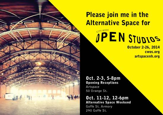 Alternative Space Weekend at City Wide Open Studios in New Haven CT