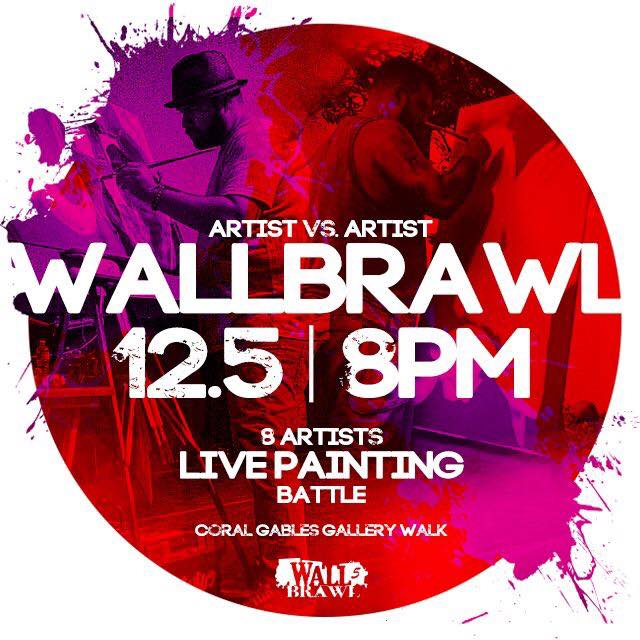 Art Basel Miami, Live Art Event in Miami, Live Painting, Vito Bonanno, WallBrawl