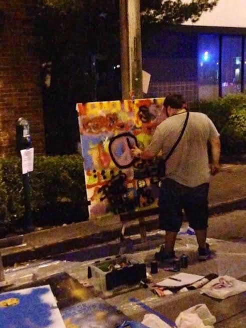 My Live Art Performance at WallBrawl – the Art Basel Edition