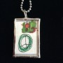 Special Valentine's Love Green Art Pendant