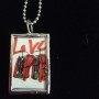 Special Valentine's Love Red Art Pendant