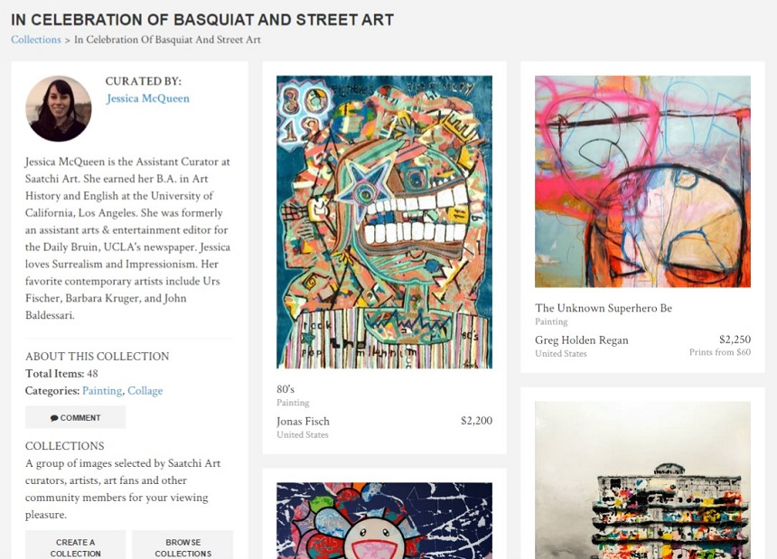 basquiat collection, street art, saatchi art, vito bonanno, art collectors, visual arts, mixed media artist