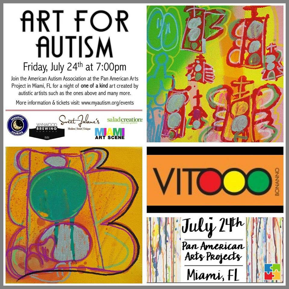 Art for Autism in Wynwood at Pan American Art Projects Gallery
